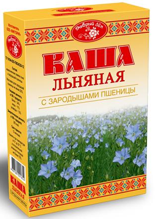"""Каша льняная с зародышами пшеницы """"Добрый лен"""" 400 г"""