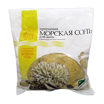 Соль Морская Природная с экстрактом ЛИМОНА пакет п/э 700г