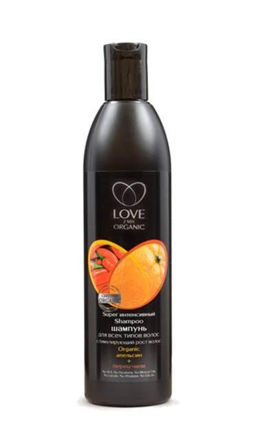 Шампунь для всех типов волос для роста волос с апельсином и перцем чили Интенсивный, LOVE 2MIX 360 мл