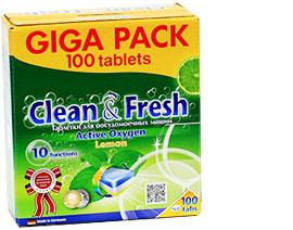 """Таблетки для ПММ """"Clean&Fresh"""" 5in1 (giga) 100 штук АКЦИЯ до 31.10"""