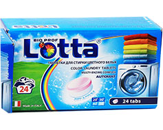 """Таблетки для стирки цветного белья """"LOTTA"""" Италия 24 штук"""