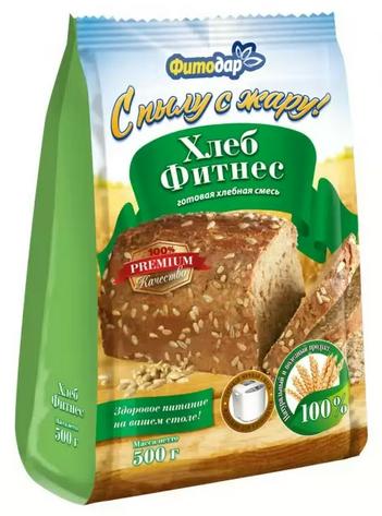 """""""ФИТНЕС хлеб"""" хлебная смесь """"Фитодар"""" 500 г"""