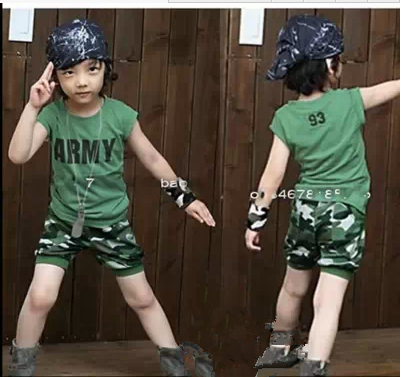 Камуфляжный детский костюм