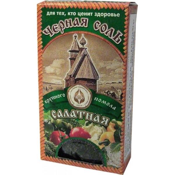 Черная четверговая соль из Костромы «Салатная» (крупного помола) 100 г