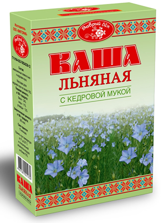 """Каша льняная с кедровой мукой """"Добрый лен"""" 400 г"""