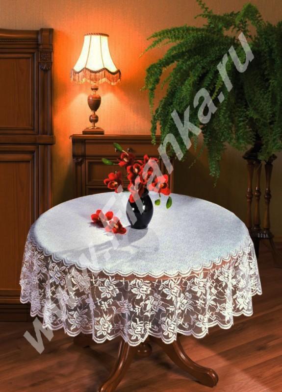 022 B, Walentyn (Валентин), круглая, Д=160 см, белоснежная