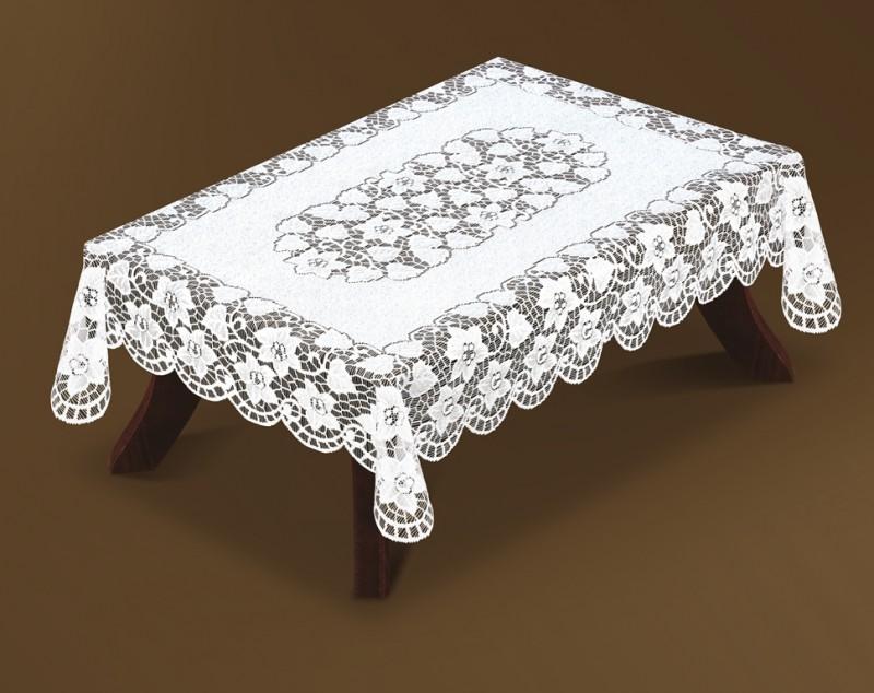 221940/120, прямоугольная 120 см * 160 см, цвет: белый, плотная, серебристая структура