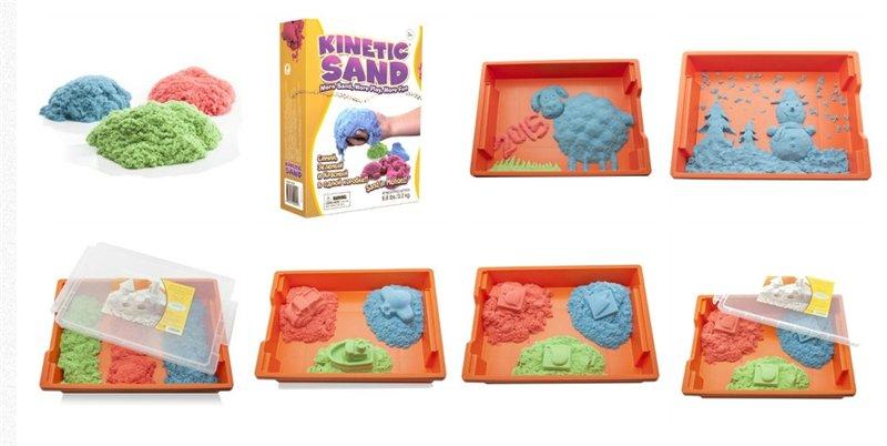 Цветной кинетический песок 3 кг. (3 цвета по 1 кг) в наличии