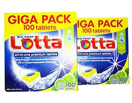 "Таблетки для ПММ \""LOTTA\"" Allin1 GIGA PACK  фасовка по 20 шт. без упаковки в наличии"