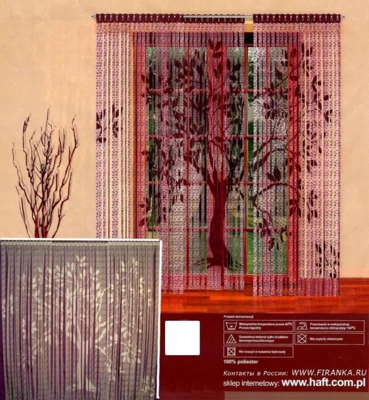 """205381/250, """"Дерево"""", цвет: КРЕМОВЫЙ, 90 см ширина КАЖДОЙ панели * 250 см высота, в комплект входит 3 панели"""