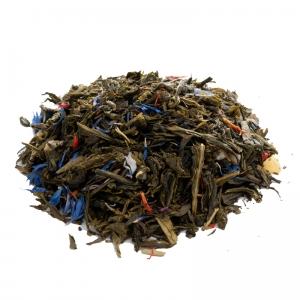Зеленый ароматизированный чай Сочный персик 250 г