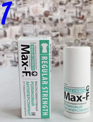 Max f Антиперспирант Макс Ф 15% ролик 50мл