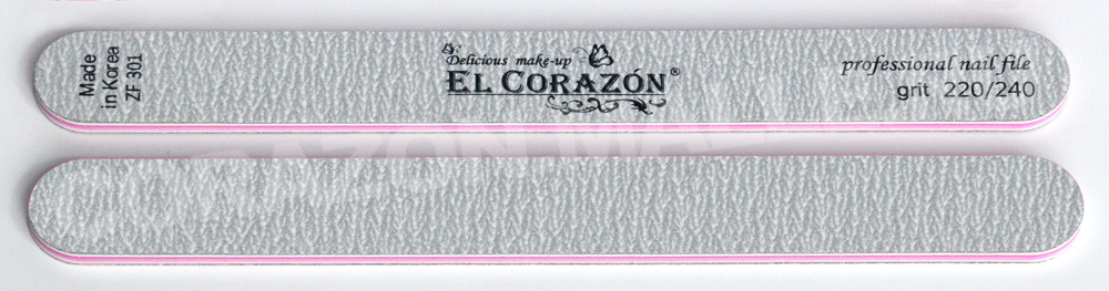 3г)пилка зебра для натуральных ногтейдвухсторонняя 220/240 прямая