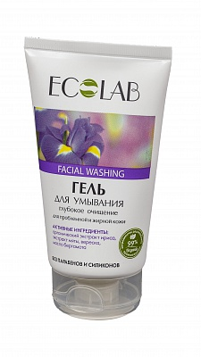 """Гель для умывания """"Глубокое очищение"""" для проблемной и жирной кожи,EcoLab 150 мл"""