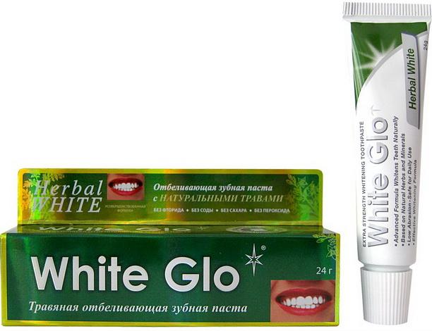 Вайт Гло зубная паста 24гр, отбелив., травяная в наличии