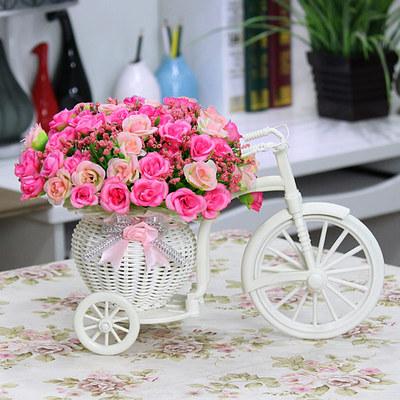 Цветочные велосипеды, цветов много