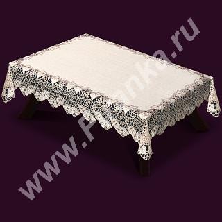 42770/120, прямоугольная, размер: 120 см * 160 см, цвет: крем/темное золото, серебристая структура