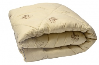 """221 Одеяло Medium Soft """"Стандарт"""" Camel Wool (верблюжья шерсть) 2 спальное (172х205)"""