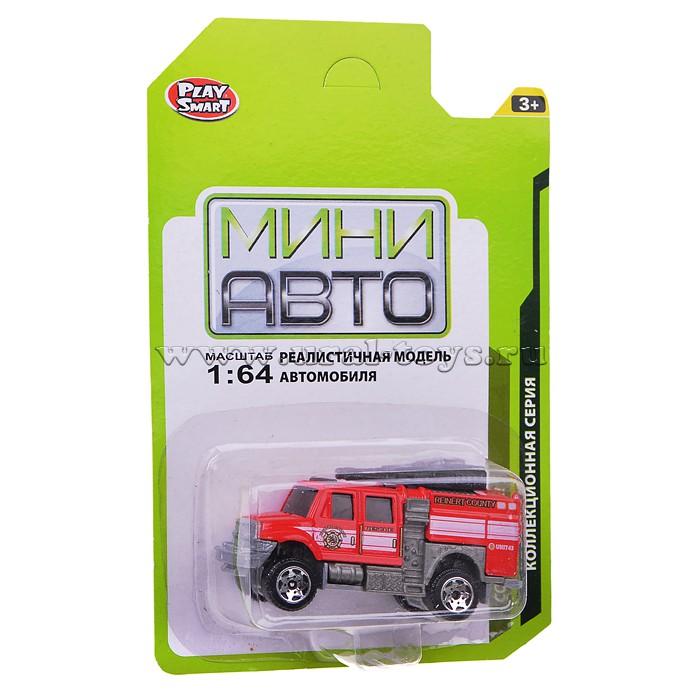 """Машина 6392-4 \""""Мини Авто\"""" Пожарная на блистере. в наличии"""