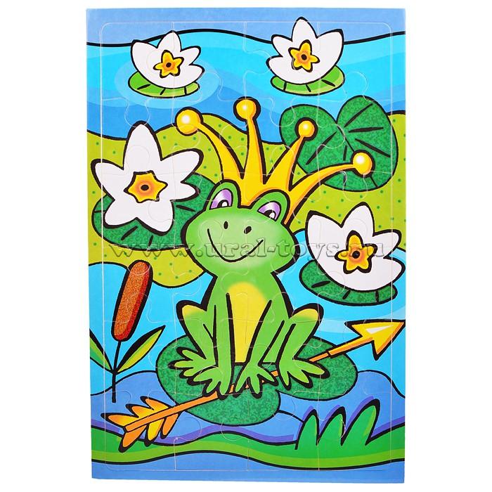 Мягкие пазлы Царевна-лягушка (24 эл). В наличии
