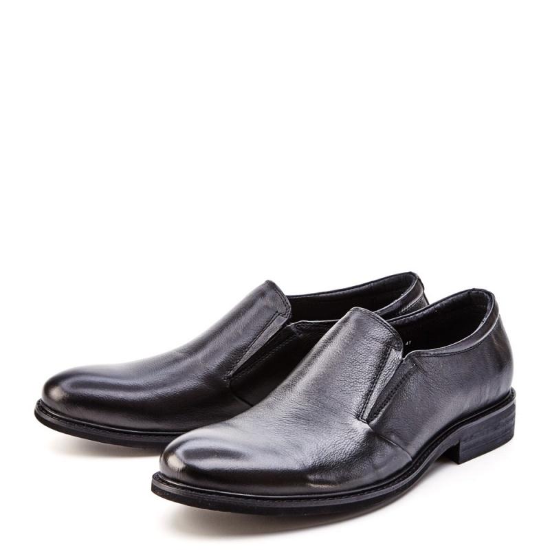 Черные мужские туфли Tesoro с резинками