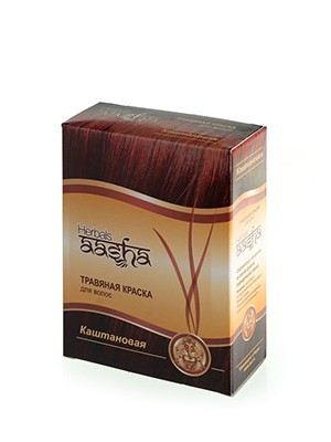 Травяная краска для волос (Aasha Herbals), 60 г (каштановая)