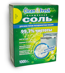 "Соль для ПММ ""Clean&Fresh\"" 1000 г  в наличии"