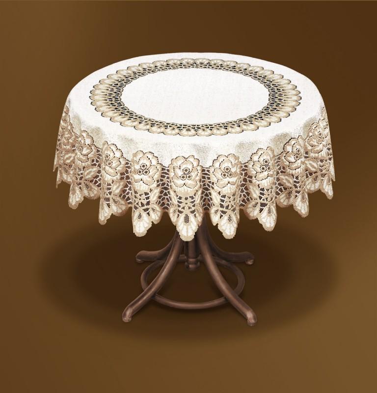 216363/150, круглая, диаметр 150 см, цвет: крем/темное золото