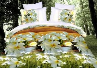 """Артикул: 580. Комплект постельного белья (КПБ) из поплина 3D \""""Невеста\"""""""