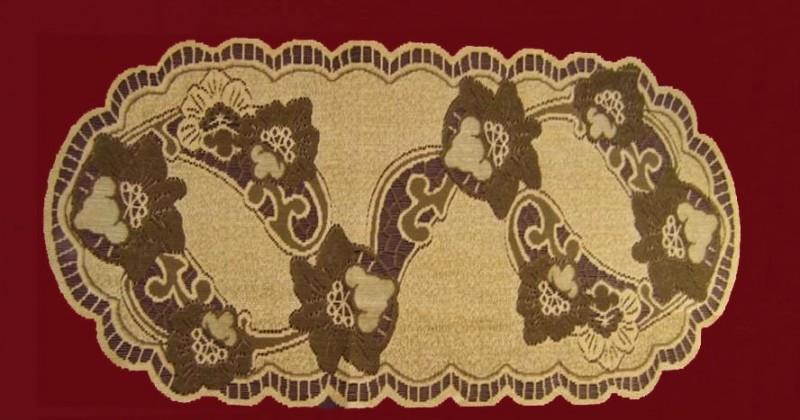 50801/50, овальная, 50 см * 110 см, цвет: кофе-коричневая
