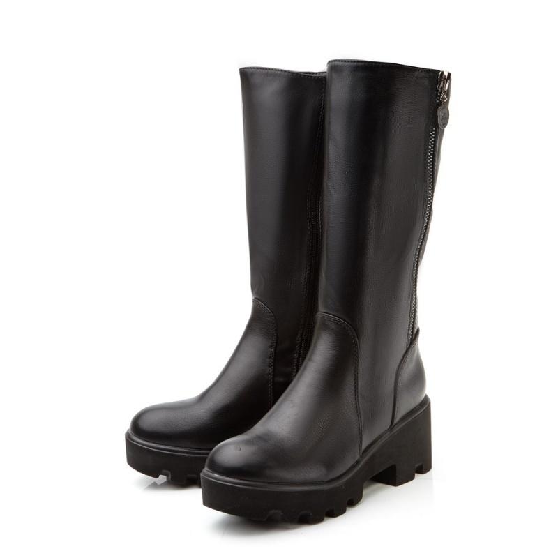 Ультрамодные женские кожаные сапоги BETSY на толстой подошве  Артикул: 471480101