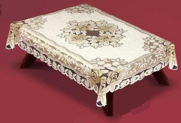 """54110/100, прямоугольная, 100смХ150см,, сереб крем/золотористая структура,""""Розы"""""""