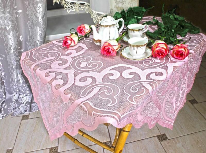 50372/100, накладка розовая, мерцающей фактуры, размеры 100 см * 100 см