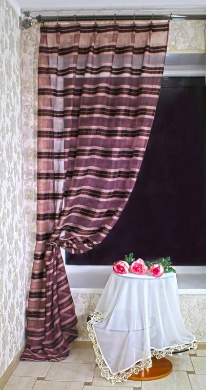3686-П, ОРГАНТИН-КРЕШ, метраж, ширина 160 см, цвет фиолет-коричнеывый-крем