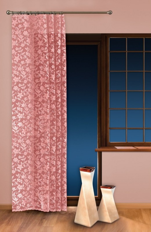 0624/434-П, ЦВЕТ ЯБЛОНИ, метраж, изящная, кружевная, ширина 150 см, цвет - РОЗОВЫЙ