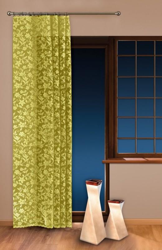 0624/434-П, ЦВЕТ ЯБЛОНИ, метраж, изящная, кружевная, ширина 150 см, цвет - ОЛИВКА