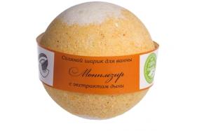 """Бурлящий шарик для ванн (""""бомба"""") МОНПЛЕЗИР (дыня), 160 гр."""