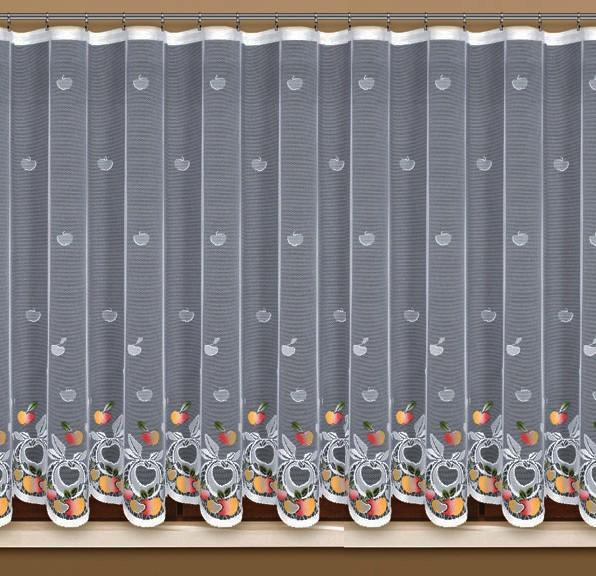 """305100/160, """"ЯБЛОКИ"""", высота 160 см, ширина 315 см, крашенная, на универсальной шторной ленте"""