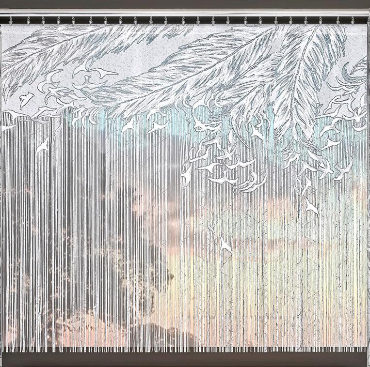 217 E DEBORA (Дебора), размеры: 220 см ширина X 170 см высота, на универсальной шторной ленте