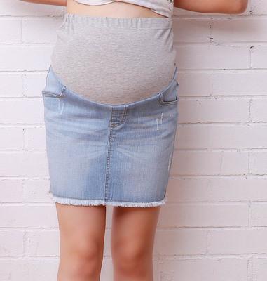 джинс юбка для беременной