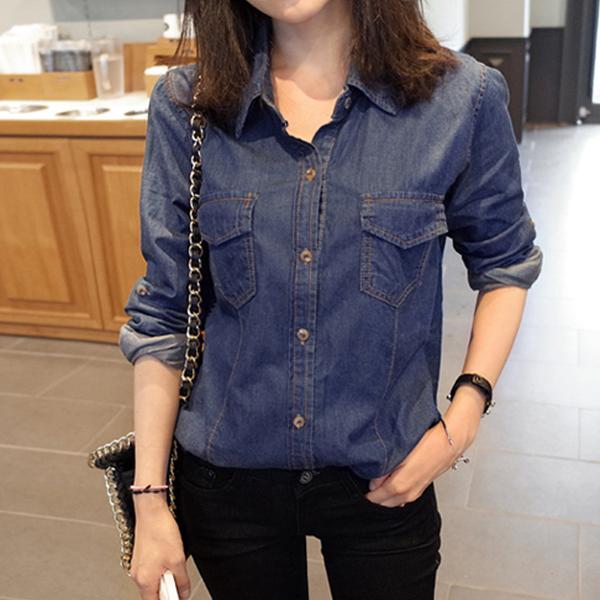 джинсовая рубаха женская