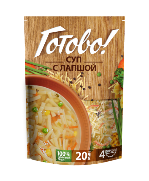 Суп с лапшой Готово! 150г