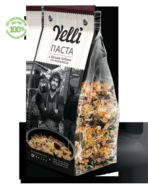 Паста с белыми грибами по-итальянски Yelli 250г