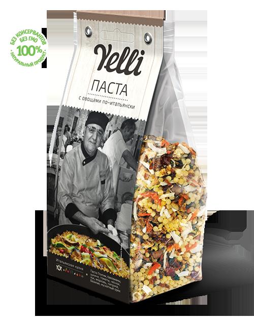 Паста с овощами по-итальянски Yelli 250г