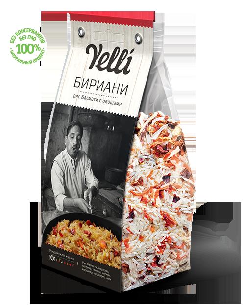 "Рис Басмати с овощами ""Бириани"" Yelli 250г"