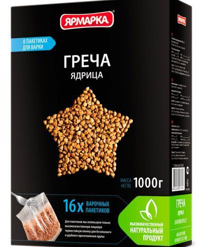 Греча ядрица Ярмарка Удобная 1000г /10/