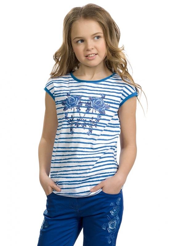"""GTR589/1 джемпер (модель \""""футболка\"""")  для девочек"""