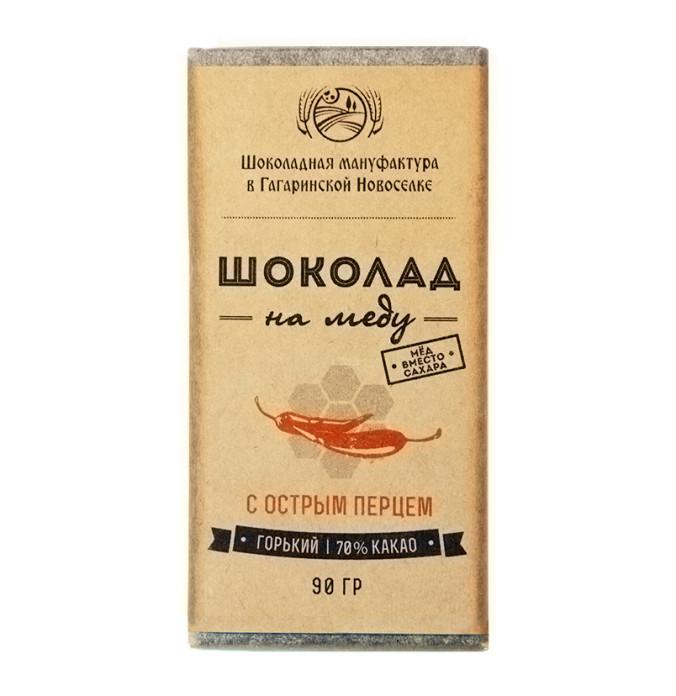 Шоколад На Меду 70% какао С Острым перцем 50 гр.