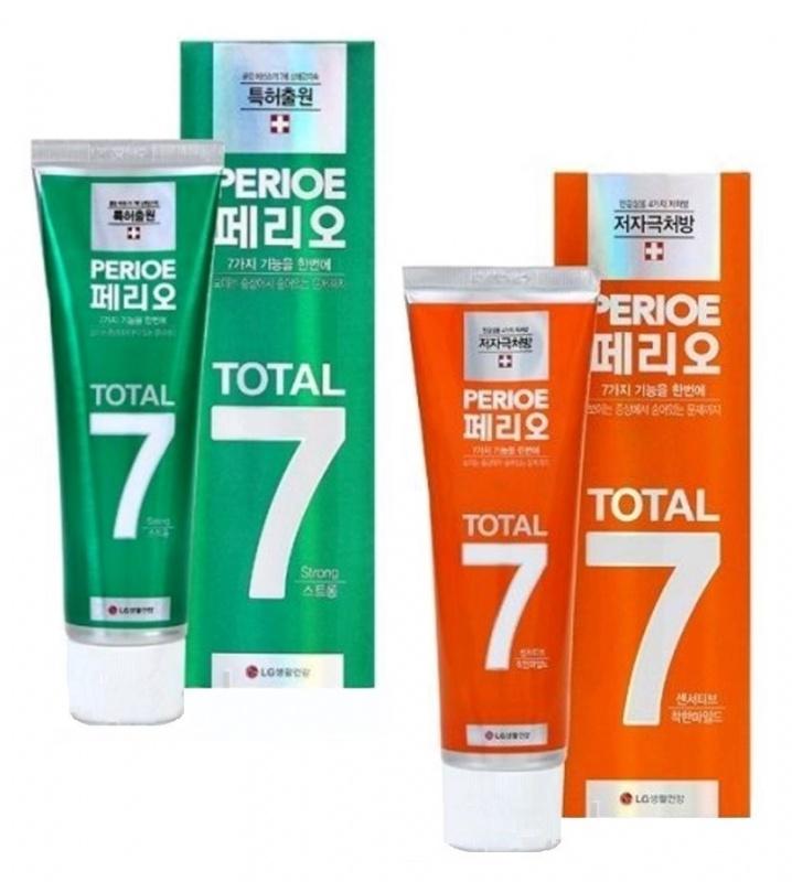 """064247 LG H&H """"Total 7 - Sensitive"""" Зубная паста-гель комплексного действия, для чувствительных зубов, 120 г"""