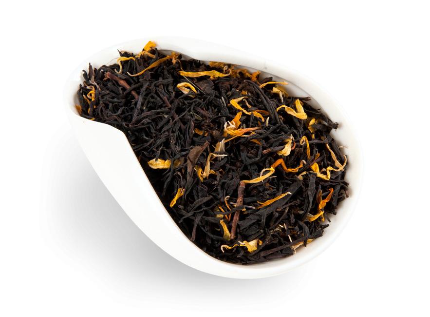 Черный ароматизированный чай Царский ореховый мед 250 г